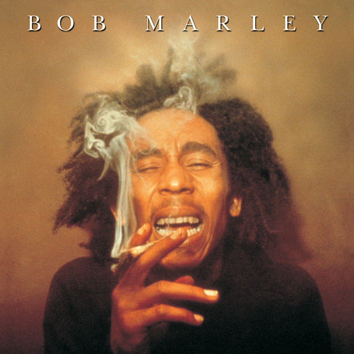 Naklejka BOB MARLEY - spliff