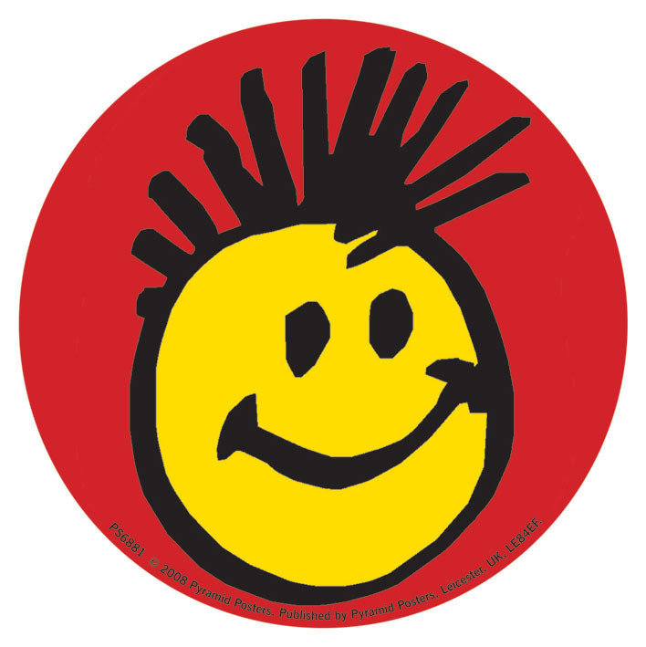 Naklejka FACE - smiley mohican