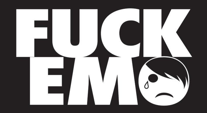 Naklejka FUCK EMO