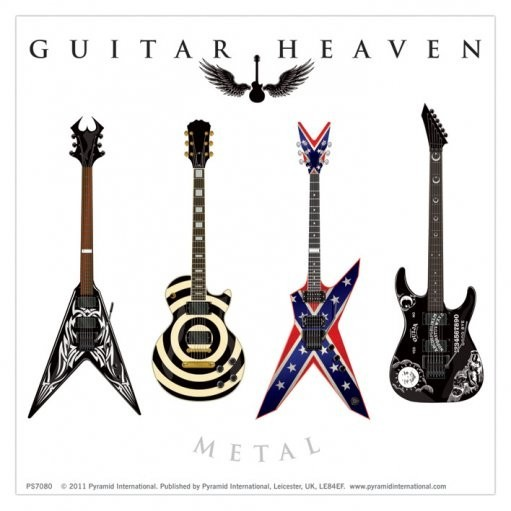 Naklejka GUITAR HEAVEN - metal