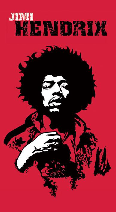 Naklejka Jimi Hendrix (rewolucja)