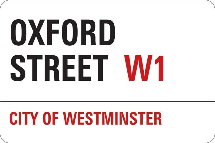 Naklejka LONDON - oxford street