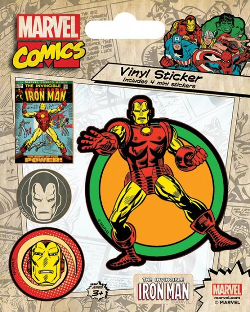 Naklejka Marvel Comics - Iron Man Retro