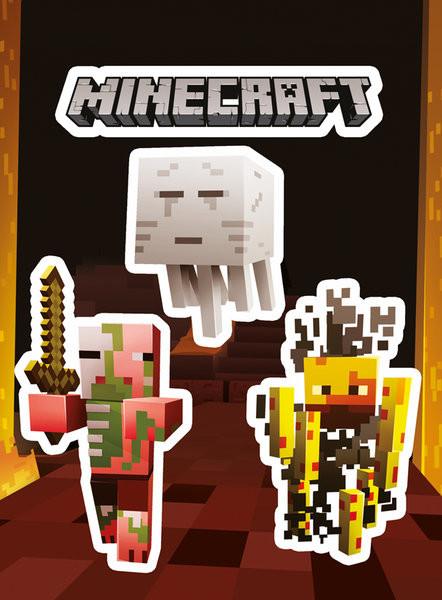 Naklejka Minecraft - Monsters