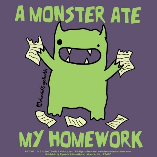 Naklejka MONSTER MASH - a monster ate my homework
