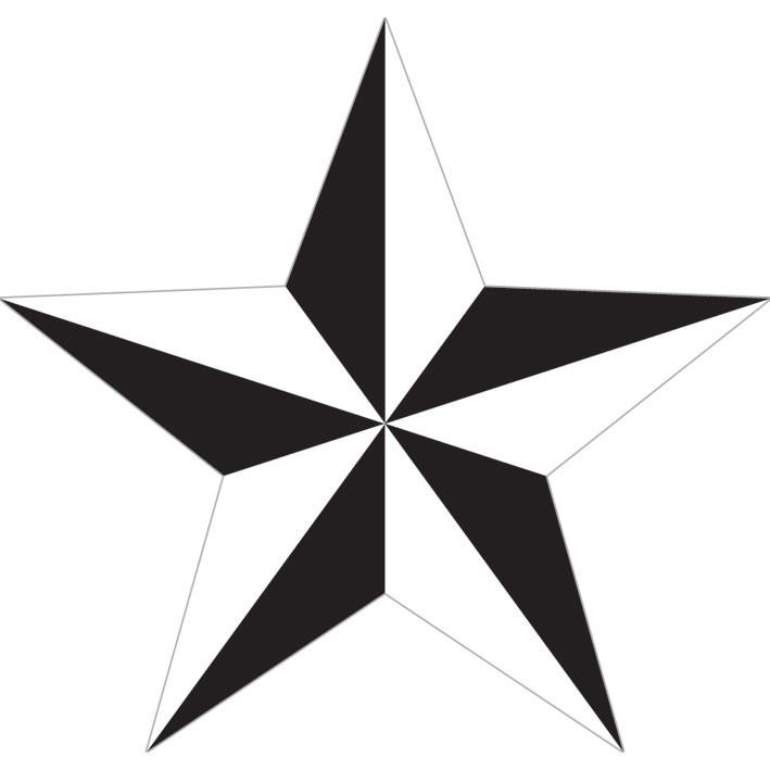 Naklejka NAUTICAL STAR - white
