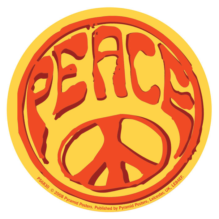 Naklejka PEACE