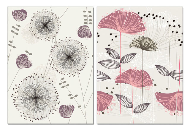 Art - Sketch of Flowers Obraz