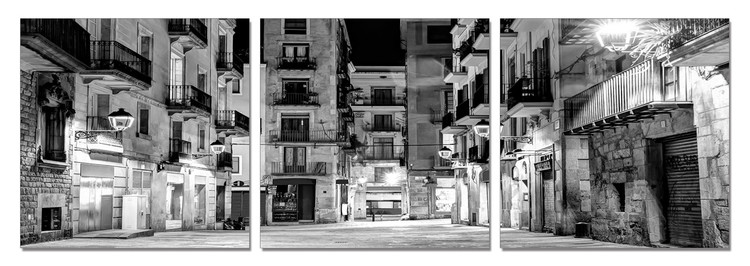 Calm City at Night Obraz