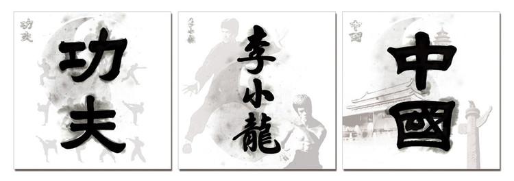 China Signs - Kung Fu. Bruce Lee, China Obraz