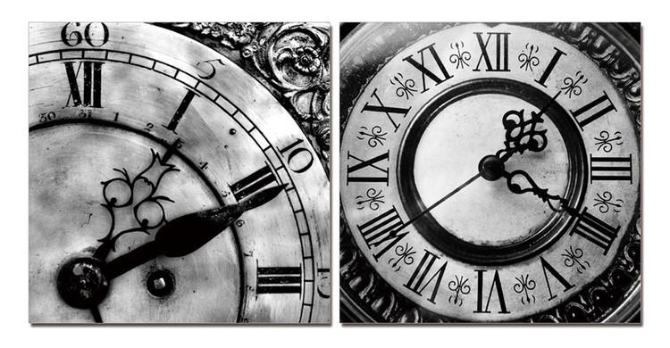 Designer clocks (B&W) Obraz