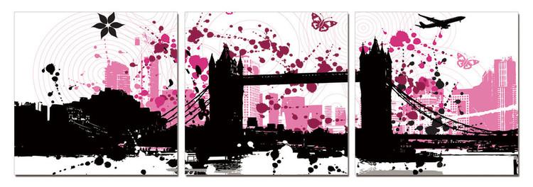 Modern Design - City Collage Obraz