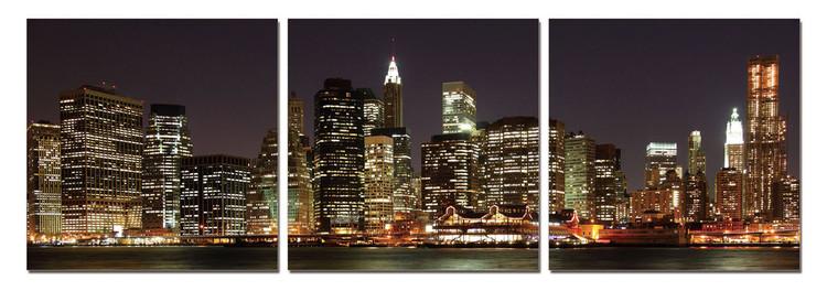 New York - Manhattan at Night Obraz