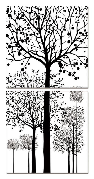 Painted Trees Obraz