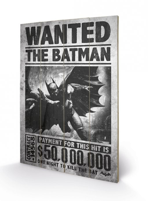 Obraz na drewnie Batman Arkham Origins - Wanted