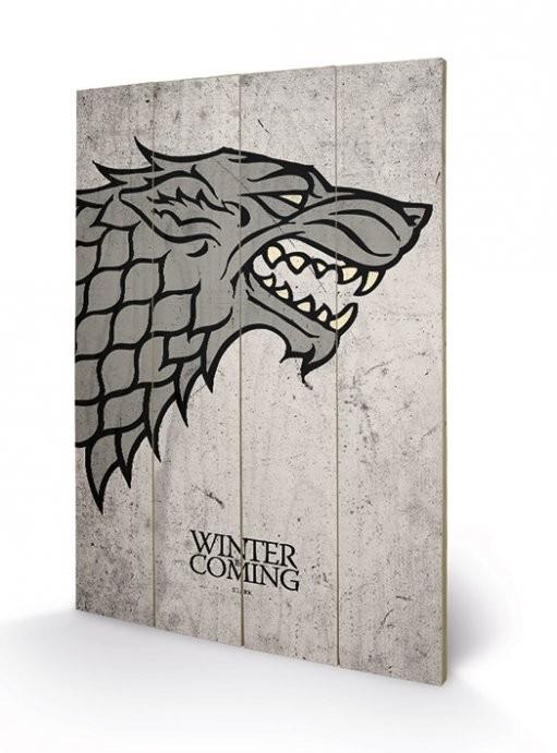 Obraz na drewnie Gra o tron - Game of Thrones - Stark