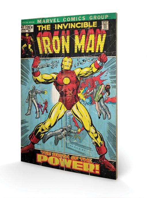 Obraz na drewnie Iron Man - Birth Of Power