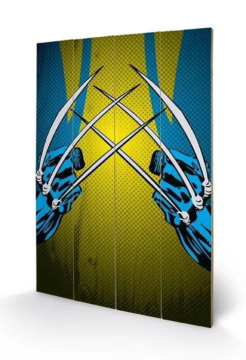Obraz na drewnie Marvel Comics - Wolverine Claws