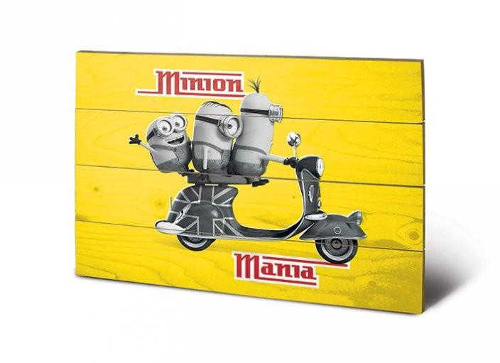 Obraz na drewnie Minionki (Despicable Me) - Minion Mania Yellow