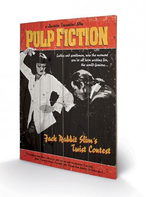 Obraz na drewnie Pulp Fiction - Twist Contest