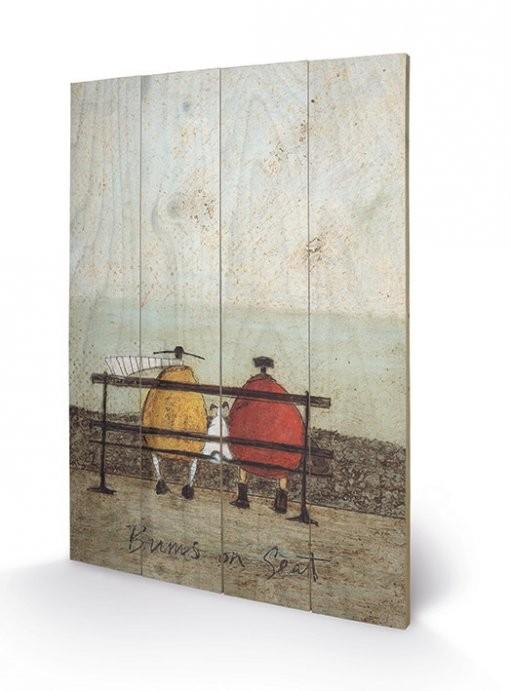 Obraz na drewnie Sam Toft - Bums on Seat