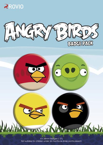 Odznaka ANGRY BIRDS - faces