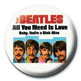 Odznaka BEATLES - baby,you're a rich man