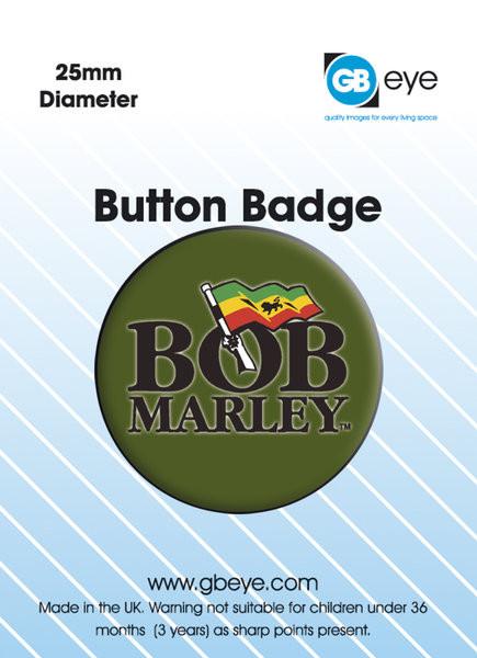 Odznaka BOB MARLEY - logo