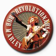 Odznaka BOB MARLEY - revolutionary