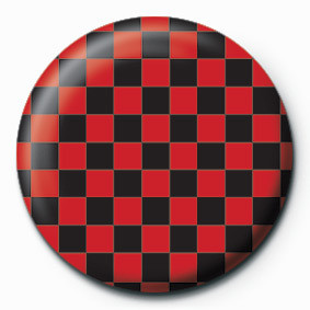 Odznaka CHECK (RED & BLACK)