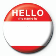 Odznaka HELLO, MY NAME IS