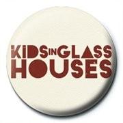 Odznaka KIDS IN GLASS HOUSES - logo