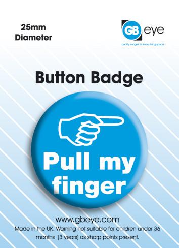 Odznaka Pull my finger