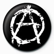 Odznaka PUNK - ANARCHY - (WHITE)