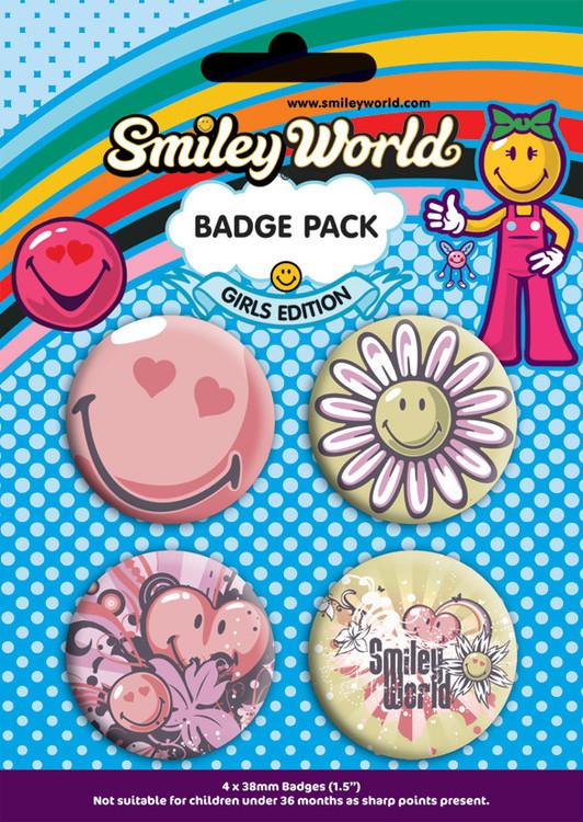 Odznaka SMILEY - girls pack