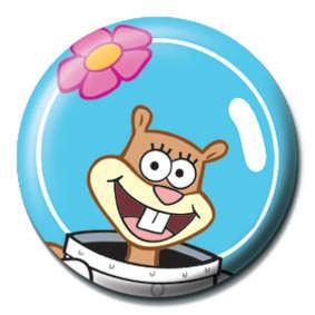 Odznaka SPONGEBOB - sandy face