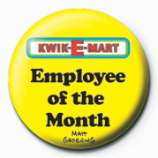 Odznaka THE SIMPSONS KWIK-E-MART - employee