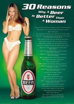 Plakat 30 Reasons - Beer/woman