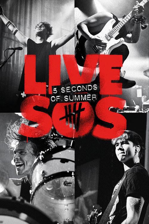 Plakat 5 Seconds of Summer - Live SOS