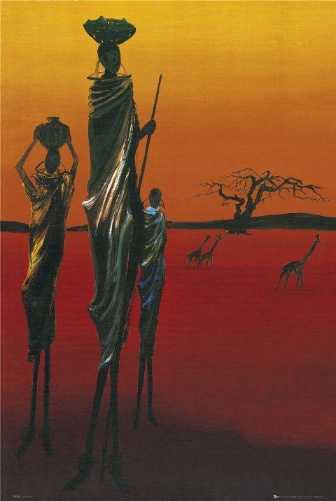 Plakat Africa - tribal