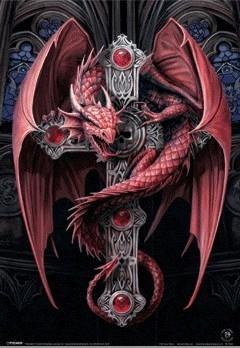 ANNE STOKES - gothic dragon Plakat 3D Oprawiony
