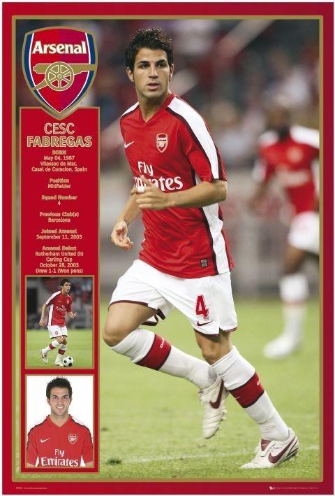Plakat Arsenal - Fabregas 08/09