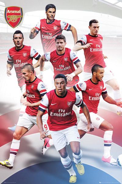 Plakat Arsenal - players 12/13