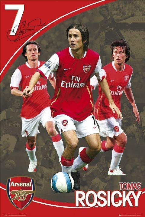 Plakat Arsenal - rosicky 07/08