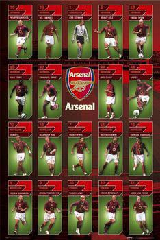 Plakat Arsenal - squad profiles 05/06