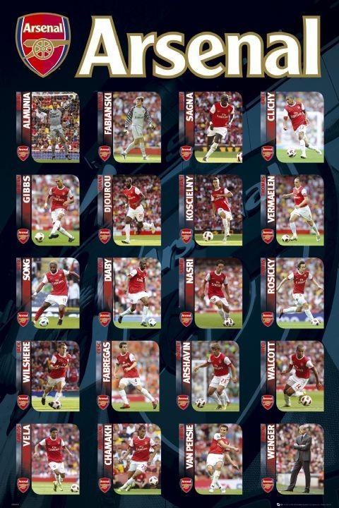 Plakat Arsenal - squad profiles 2010/2011