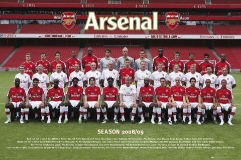 Plakat Arsenal - Team photo 08/09