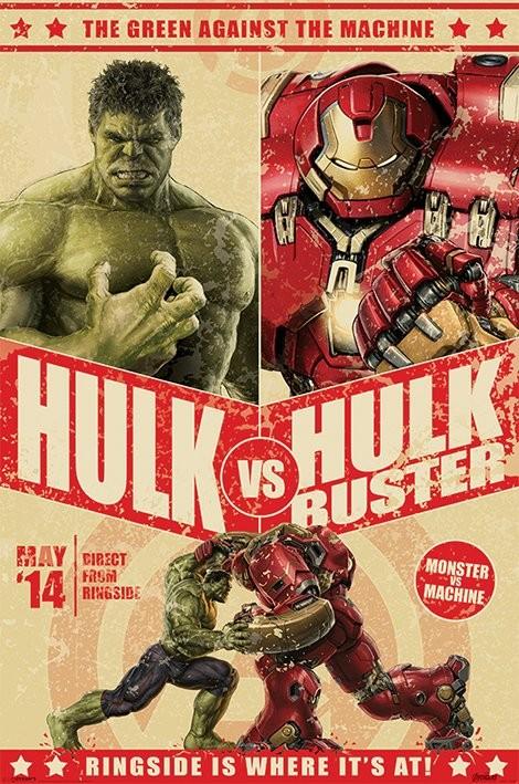 Plakat Avengers: Czas Ultrona - Hulk Vs Hulkbuster