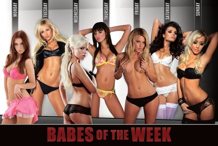 Plakat Babes of the week