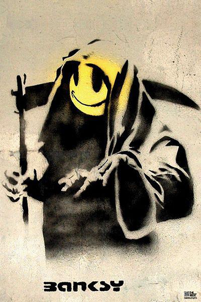 Plakat Banksy street art - reaper